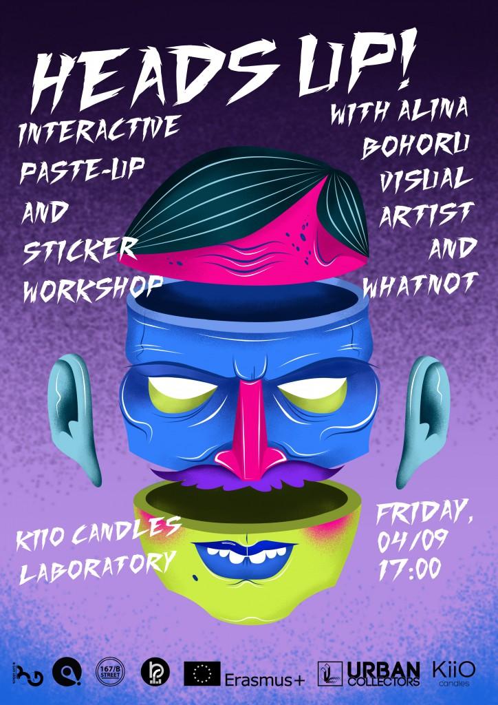 Heads Up! sticker & Paste-up workshop