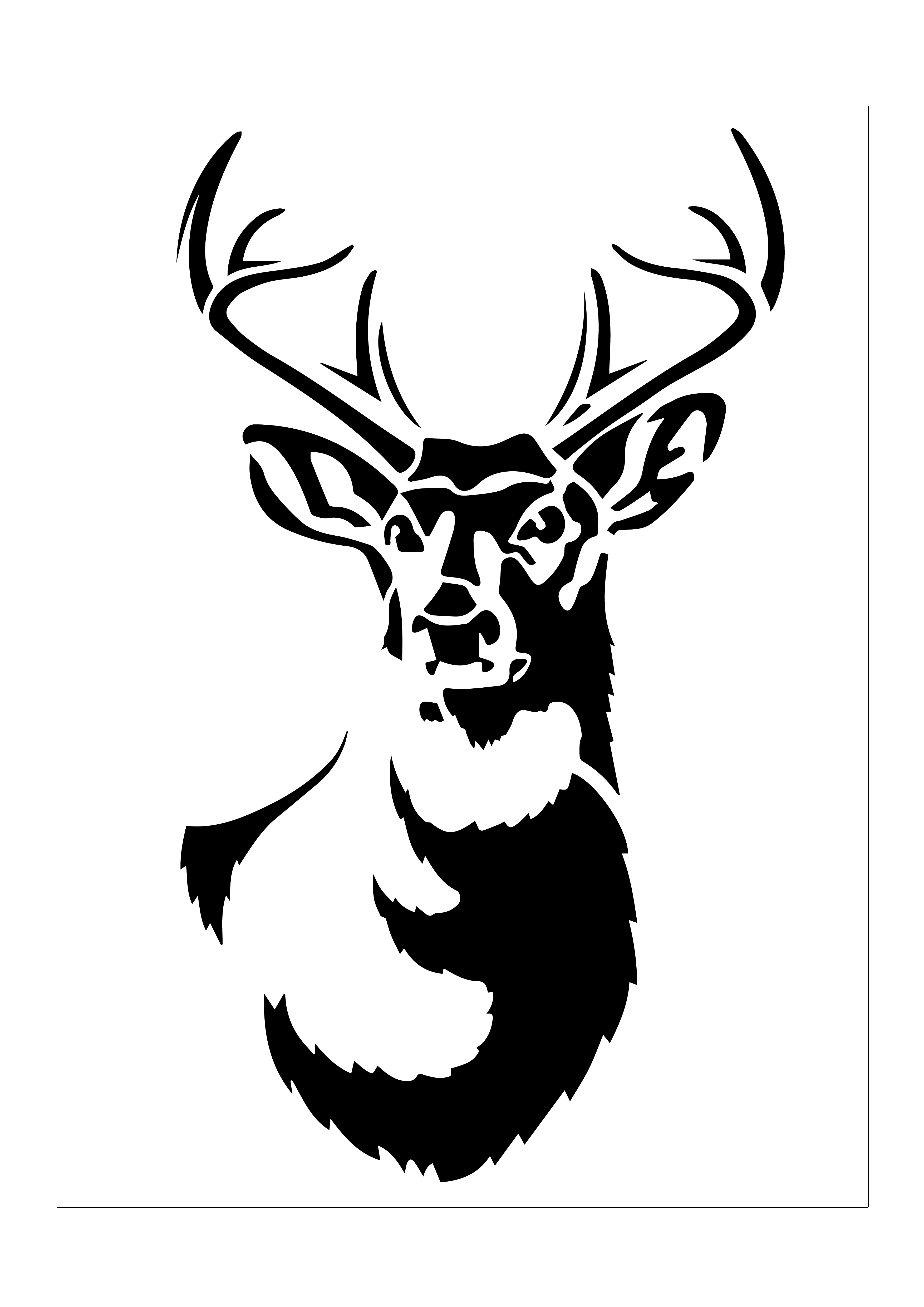 graphic relating to Free Printable Deer Stencils identified as Absolutely free Printable Stencils - City Collectors