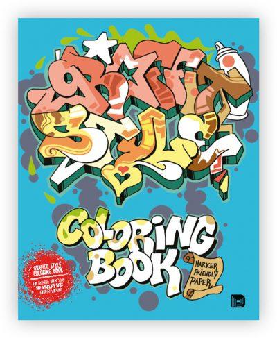 Graffiti Style colouring book