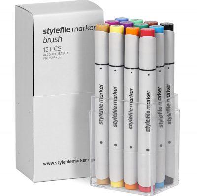 Stylefile Marker Varf Pensula 12 pcs Main A