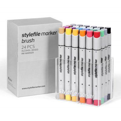 Stylefile Marker Varf Pensula 24 pcs Main A