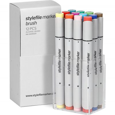 Stylefile Marker Varf Pensula 12 pcs Main b