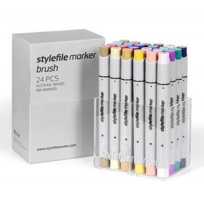 Stylefile Marker Varf Pensula 24 pcs Main B